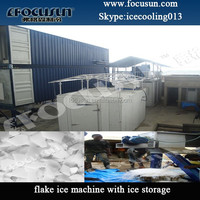 snow flake ice making machine for fishery cooling use with PLC system 30Ton 25Ton 20T 10Ton 5Ton 3T 1 tons/day