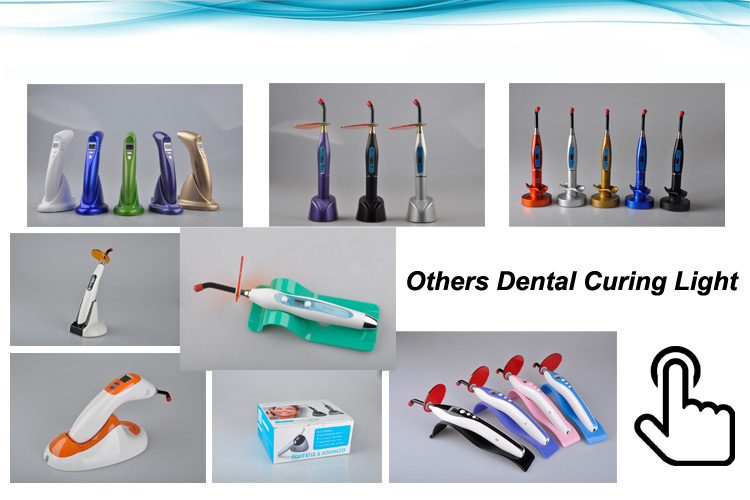 Aluminum Body Colorful Portable Wireless Digital Dental Led Curing Light