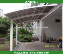 outdoor garden used aluminium frame car parking shelter