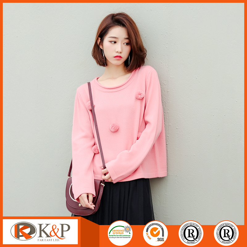 Winter ladies turtleneck retro wool pullover sweater