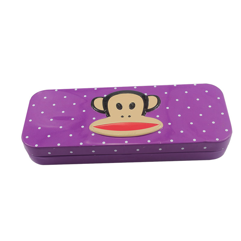 Fashion Personized Metal Pencil Case Rectangular Pencil Tin Box For Packing