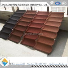 Hot sale high quality colorful stone metal tile used for house roof