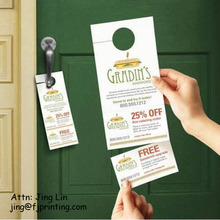 Advertising Hotel Coupon Hanger, Tear Off Door Hanger