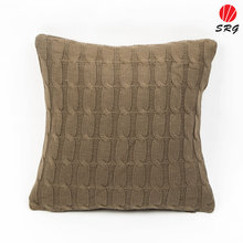 polyester knitted soft hand touch gray cushion covers decorative