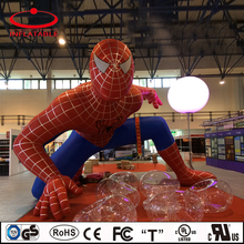 outdoor inflatable decoration cartoon, inflatable advertising cartoon, inflatable spider man