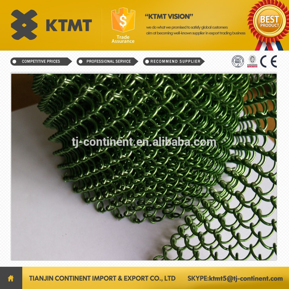 Flexible Decorative Metal Mesh Curtain Drapery for Interior Room Divider