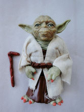 Customized plastic pvc mini action figure maker, 3d custom anime action figure, Yoda with Cane Action Figure
