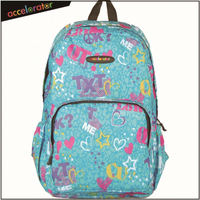 heart design sport backpack for girls fashion school bags