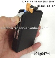 fashion metal cigarette case with lighter