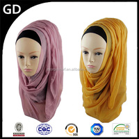 GDHH0134 2012 hot arab hijab muslim fashion scarf plain cotton voile dubai hijab wholesale