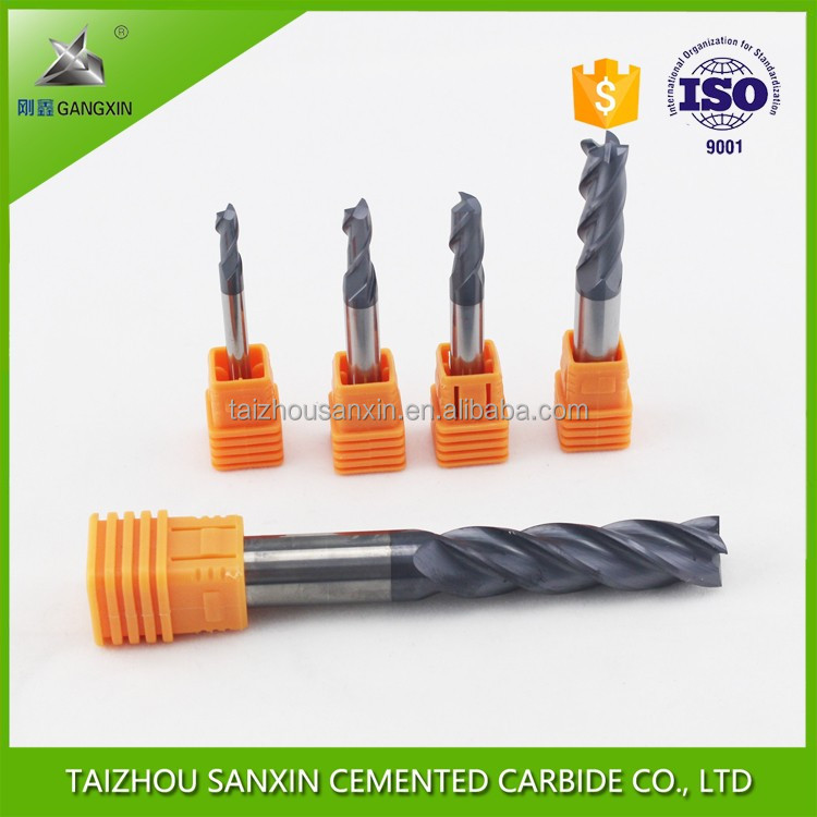 solid tungsten carbide end mill of milling tools