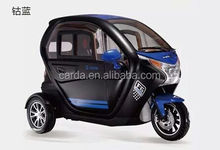 new style luxury closed electric tricycle for passenger with high quality