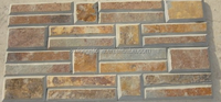 Slate Cultured Stone Wall Veneers, Natural Slate Stacked Panel, Ledge Stone Wall Cladding Tiles