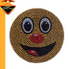 2017 New arrival fabric emoji custom rhinestone iron on patches