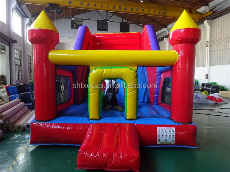 inflatable bouncy castle combo with water slide