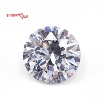 Synthetic White Round CZ Stone 1mm Small Size Loose Color Cubic Zirconia