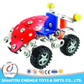 Newest diy educational block diy kids cars toys metal toy