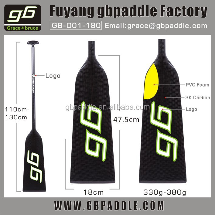 330g-380g Wholesale price Carbon IDBF Dragon Boat Paddle wakeboard paddle