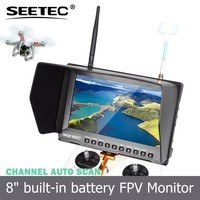 8 inch FPV Aerial Photography LCD Monitor 32 Channels 5.8GHz Receiver 450cd/m brightness rc quadcopter camera
