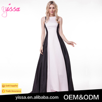 Yissa 2016 High-grade Black and White Fishtail Dress Wedding Evening Dress