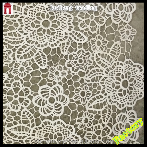 wedding dress flower type water soluble lace fabric, flower tulle, wholesale rolls