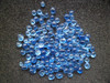 Lt cobalt blue 2-4mm landscape garden glass pebbles