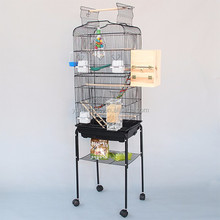 foshan budgie cages stainless steel parrot cage with parrot stand A06-2