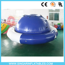 0.9mm PVC tarpaulin Iinflatable UFO saturn for water game summer toys inflatable