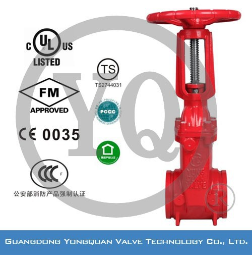 FM/UL Resilient Seated OS&Y Gate Valve