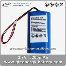 rechargeable battery pack 4.8v 18650 battery ICR18650H-1S2P 4400mAh