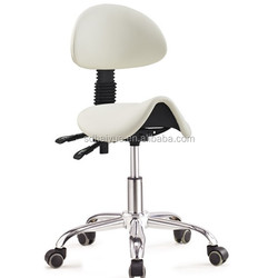 Professional saddle bar stool/saddle salon chair stool lab stool with backrest