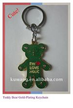Promotional Gift Metallic Teddy Bear Shape Keychain