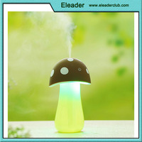 Lovely mushroom-shaped LED night light and humidifer with touch-sensor switch