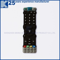 Durable Black Conductive Silicone button kiosk handphone Keypad