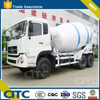 China CITC type 3 quality high-powered tri-axle mini concrete mixer truck for sale