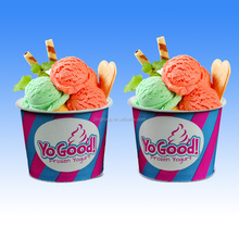 Custom Logo Printed Design Paper Ice Cream Frozen Yogurt Cup