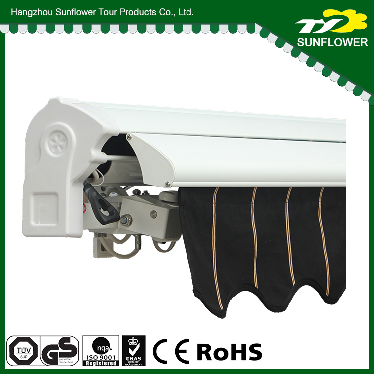 Waterproof remote control window awning shelter