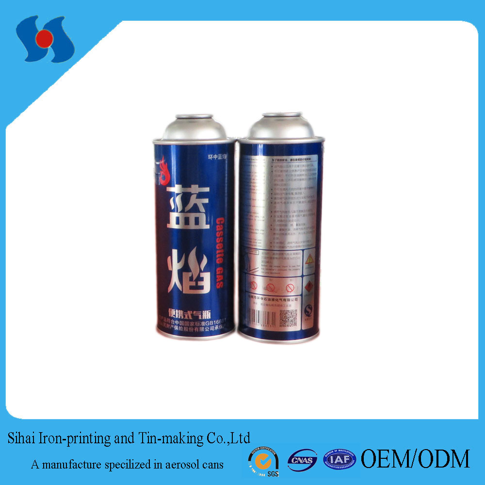 Metal Material and Aerosol Use Empty Gas Cartrige 220g-250g Tin can