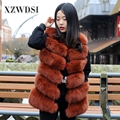 CX-G-B-04D China Factory Supply Delicate Fur Jacket Fox Fur Vest Women With Design