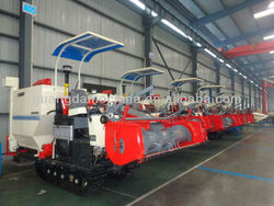 Mechanical /auto unloading type combine rice harvester for sale