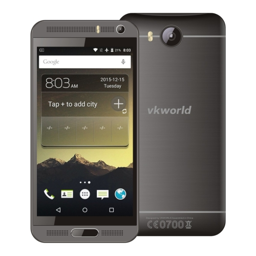 VKworld VK800X 3G Smartphone 5.0 inch Android 5.1 MTK6580 Quad Core 1.3GHz, RAM: 1GB ROM: 8GB smart mobile phone