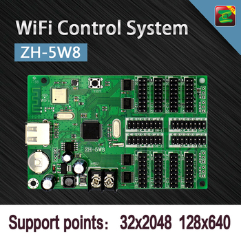 HD WiFi Control Software Graphics/ Text Running Display Controller Cards ZH-5W8