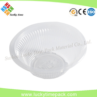 Disposable Corrugated Clear PP Take Away Food/Salad Plastic Bowl