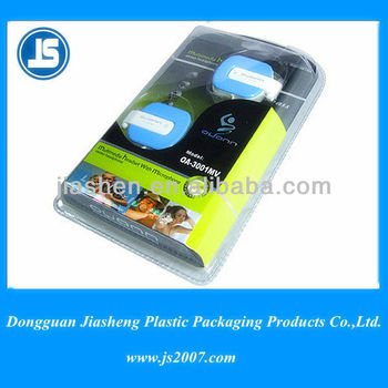Headphone Blister plastic/plastic cardboard blister pack