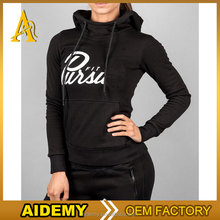 Dongguan apparel women long sleeve gym hoodies fleece sweatshirt fitness wear