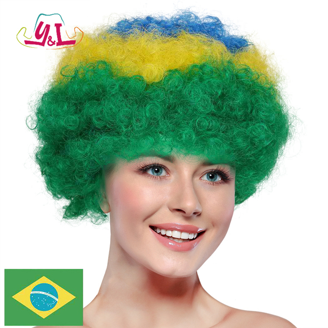Brazil Human Hair Extension Wig Football Fan Accessories