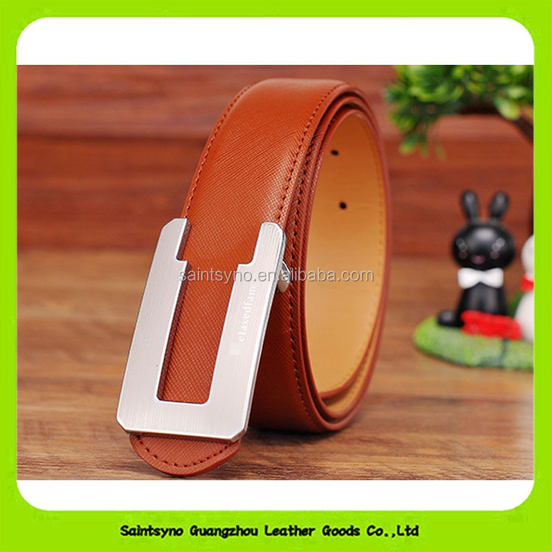 16236 Eco-friendly strong design specilized leather belt big buckle