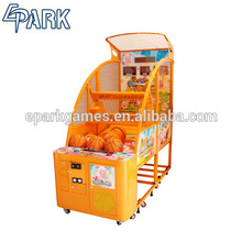Game center kids coin operated street basketball arcade game machine