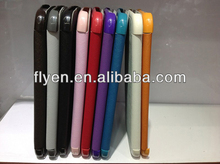 Classical 3 fold belk leather tablet case cover for samsung Galaxy Note 8.0