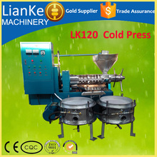 LK120 cooking oil making machine/small cold press oil machine for the production of line seed oil/cold oil press